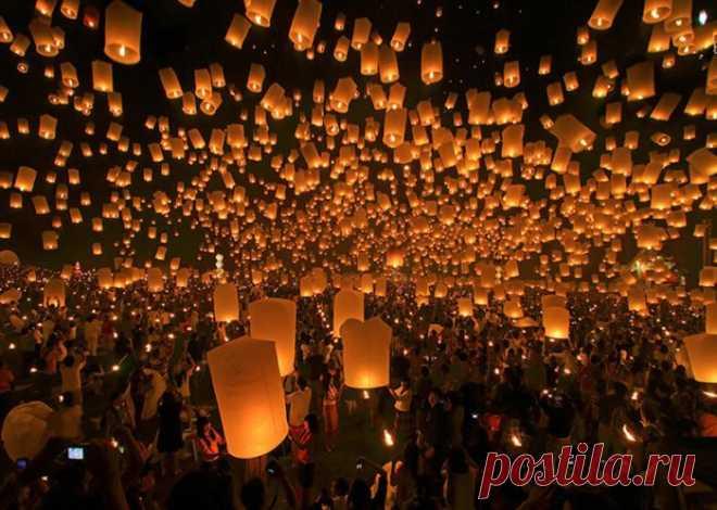 Фестиваль небесных фонариков, Таиланд