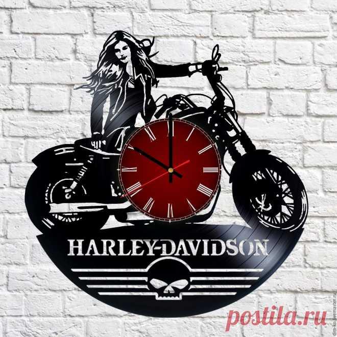 Часы из виниловой пластинки Harley-Davidson – купить в интернет-магазине на Ярмарке Мастеров с доставкой Часы из виниловой пластинки Harley-Davidson - купить или заказать в интернет-магазине на Ярмарке Мастеров | Часы изготовлены из старых виниловых пластинок.