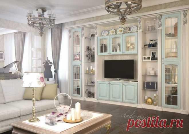 Классическая стенка из массива дерева в гостиную купить по цене 65 000 руб. за п/м в Москве— интернет магазин chudo-magazin.ru