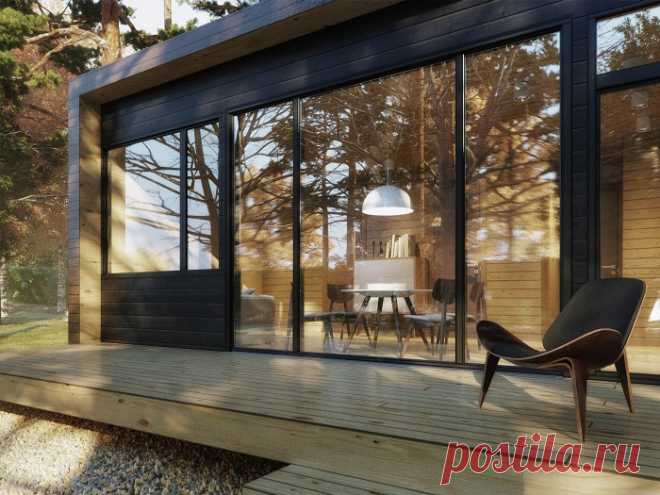 Модульный домик площадью 37 кв. метров, жить в котором можно круглогодично