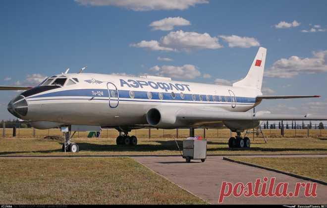 Один из последних ТУ - 124.