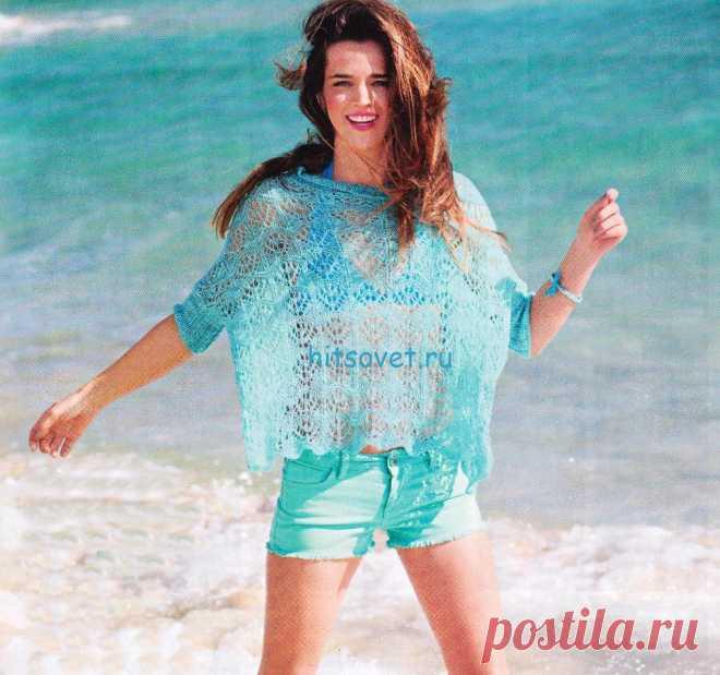 Свободный летний пуловер спицами схема - Хитсовет Свободный летний пуловер спицами схема. Чистые, свежие и очаровательные: цвета воды теперь комбинируются с оттенками розового и расставляют модные акценты.