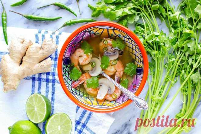 Острый тайский суп с креветками (Tom Yum) - Вкусные простые рецепты с фото пошагово на каждый день! IdealRecept.com