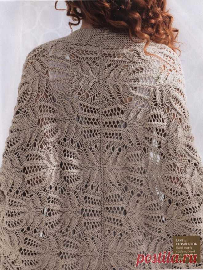 Ажурный кардиган Lace Cocoon из коллекции Vogue - Knitting.Klubok.ru.com