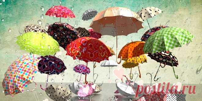 """iВ каждой жизни случается дождь.П. Гринвел Вудхауз, """"Брачный сезон"""" Все на свете взаимосвязано, вот так и дождь связывает друг с другом всех на всей земле, по очереди касаясь каждого...Д Керуак, """"В дороге"""" Не смотри на дождь. Смотри на россыпь разноцветных зонтиков. Н. Ясминска"""
