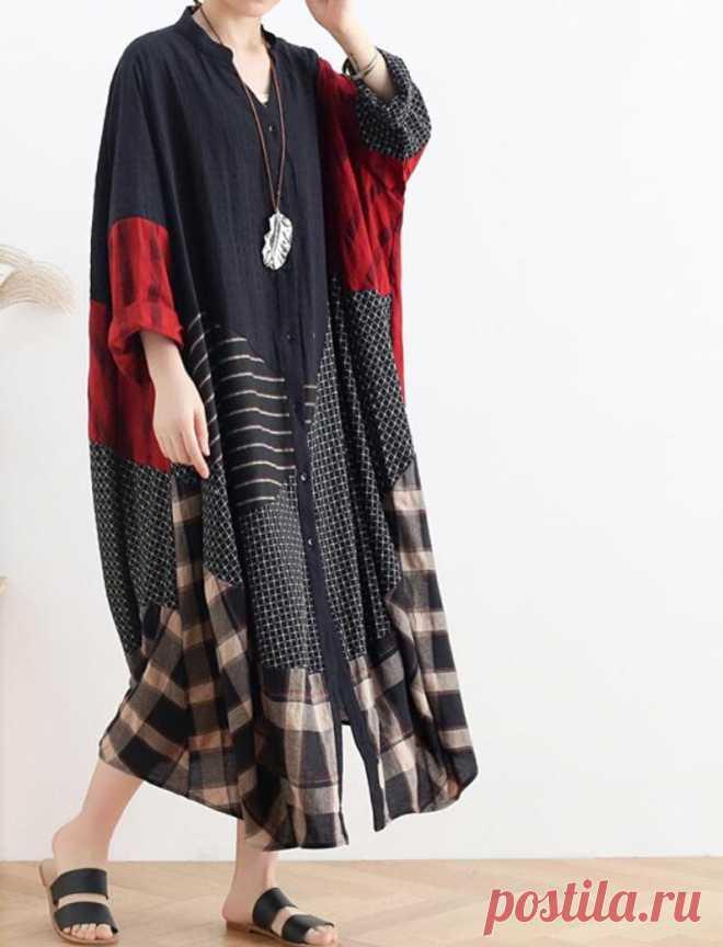 Women Shirt Dress Loose Coat dress Oversized V collar dress | Etsy