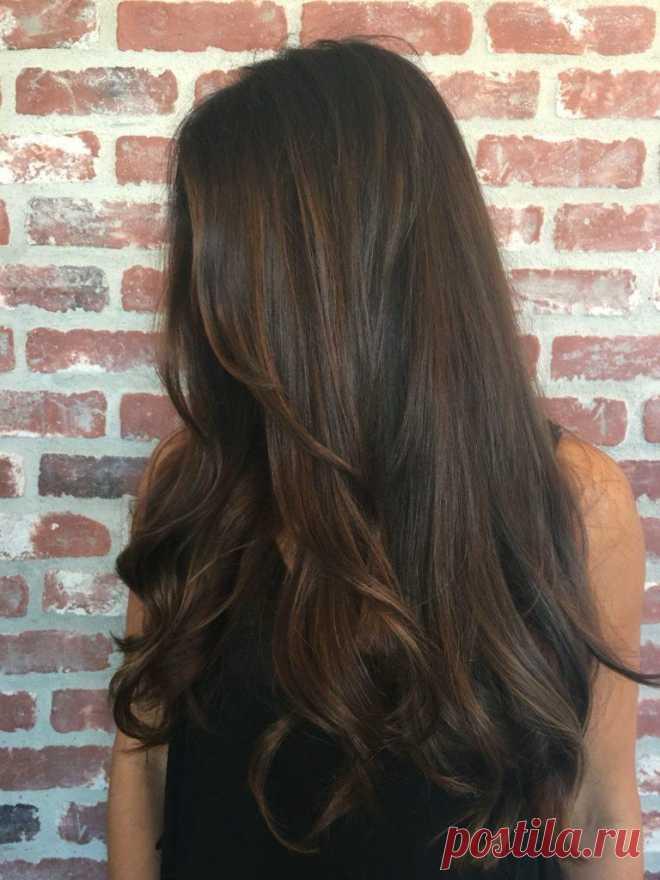 Шоколадные волосы - одни из самых притягательных