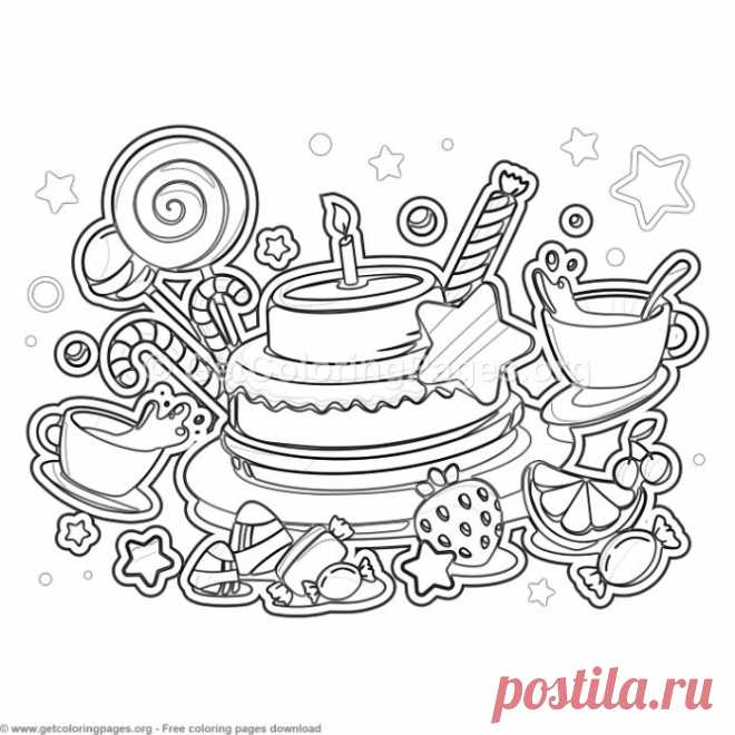 10 Happy Birthday Coloring Pages – GetColoringPages.org