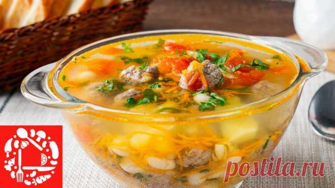 Суп с фрикадельками и фасолью! Очень Вкусно и Просто!