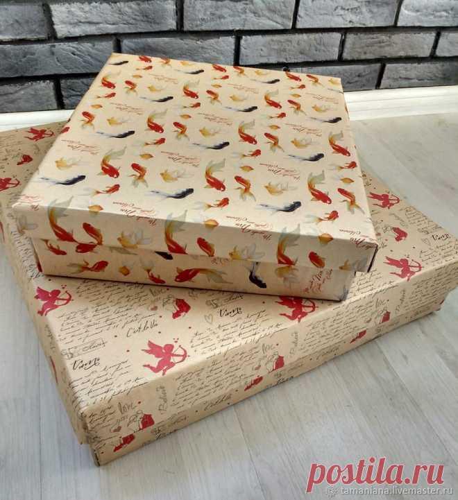 Простой способ сделать упаковочную коробку своими руками | Журнал Ярмарки Мастеров