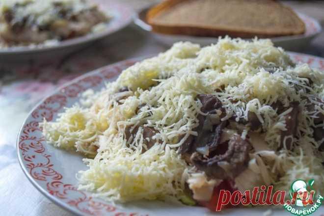 Салат с пекинской капустой и шампиньонами Кулинарный рецепт