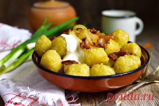 Клецки картофельные: рецепт вкусного гарнира | Еда от ШефМаркет | Яндекс Дзен