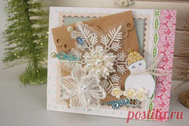 новогодние скрап открытки с дед морозом - Google Search