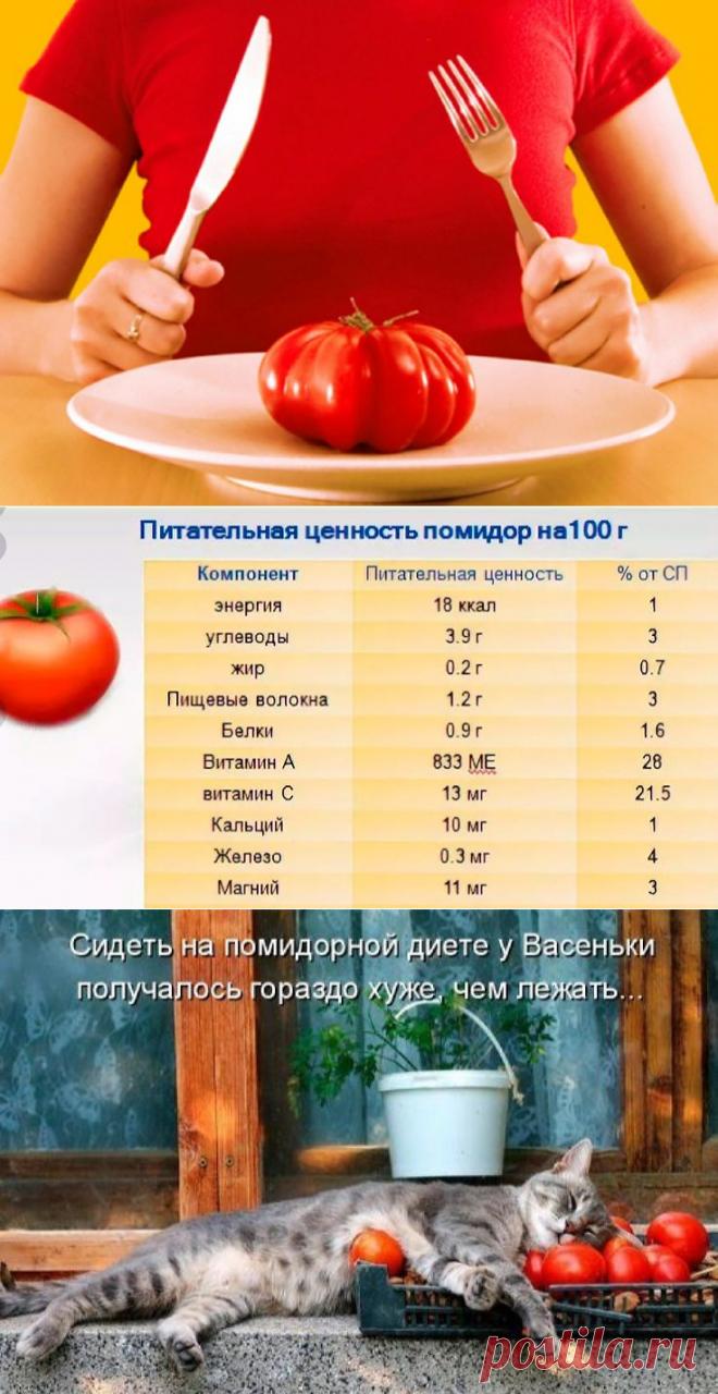 Помидорная диета минус 10 кг за 7 дней, подробное меню