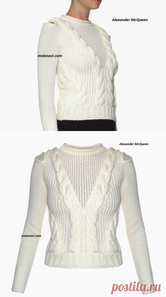 Модный пуловер от Alexander McQueen - Вяжем с Лана Ви