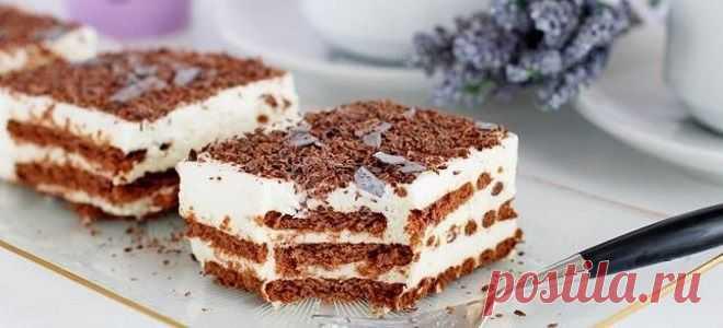 Быстрый торт без выпечки
