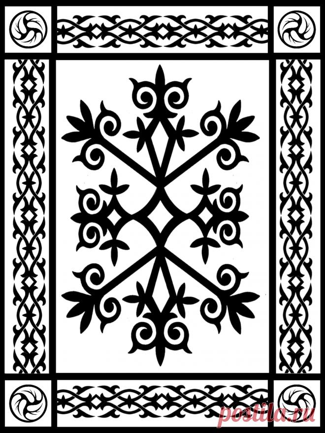 Circassian ornament черкесский адыгский орнамент Circassian motive Çerkes sebebi