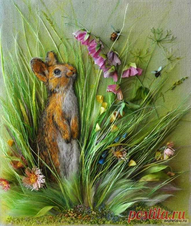 Живые картины от Анжелы Юклянчук: она не вышивает, а рисует лентами, едва касаясь полотна! - fav0ritka77.ru