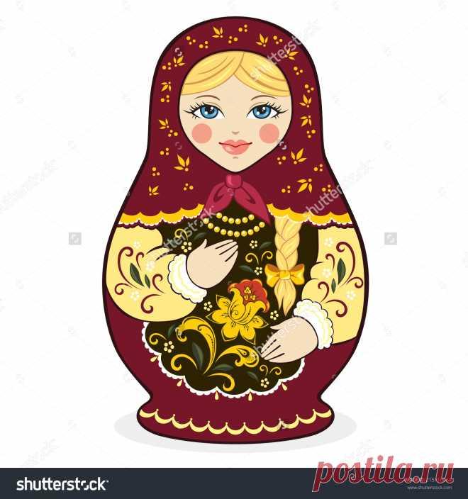 Vector Illustration Of Russian Doll Matryoshka - 215116864: Shutterstock