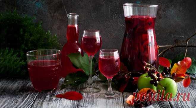 Рябиновка из черноплодки и кислых яблок, пошаговый рецепт с фото В этом напитке черноплодную рябину можно заменить и на обычную, но с...