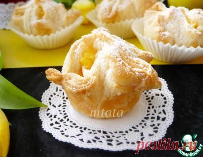 Слойки с яблоком и пудингом – кулинарный рецепт