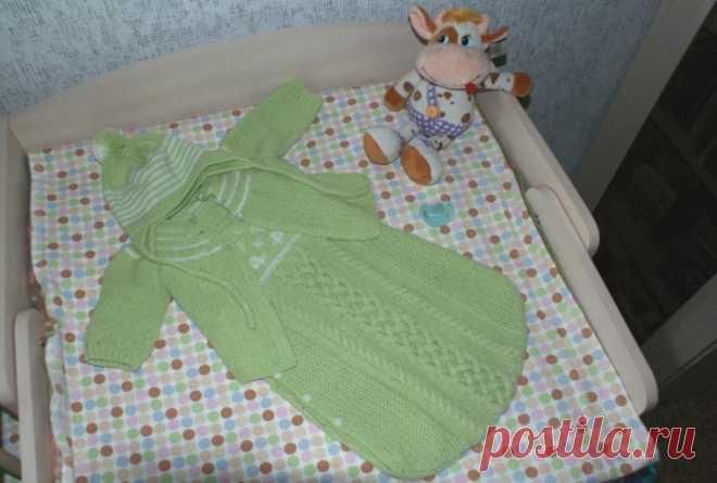 Вязание на спицах для новорожденных.