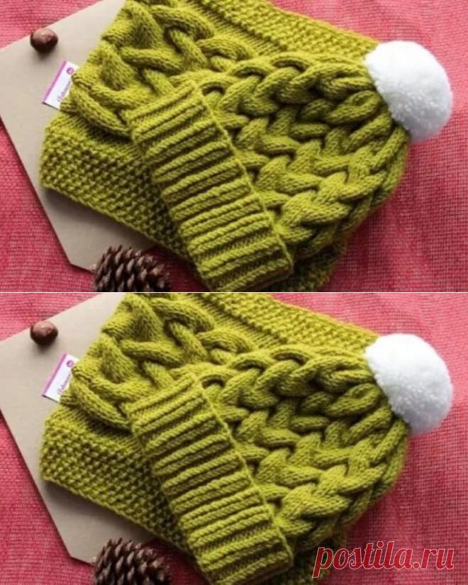 Мастер-класс по вязанию женской шапки (Вязание спицами) – Журнал Вдохновение Рукодельницы