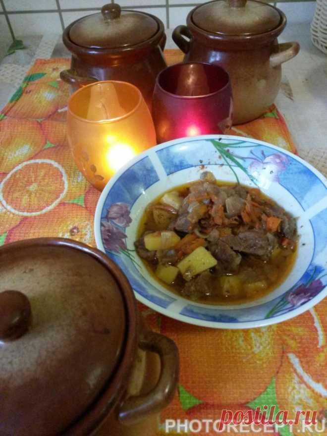 Мясо в горшочках рецепт с фото пошагово