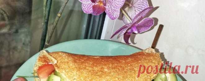 Овсяноблин с авокадо и творожным сыром - Диетический рецепт ПП с фото и видео - Калорийность БЖУ