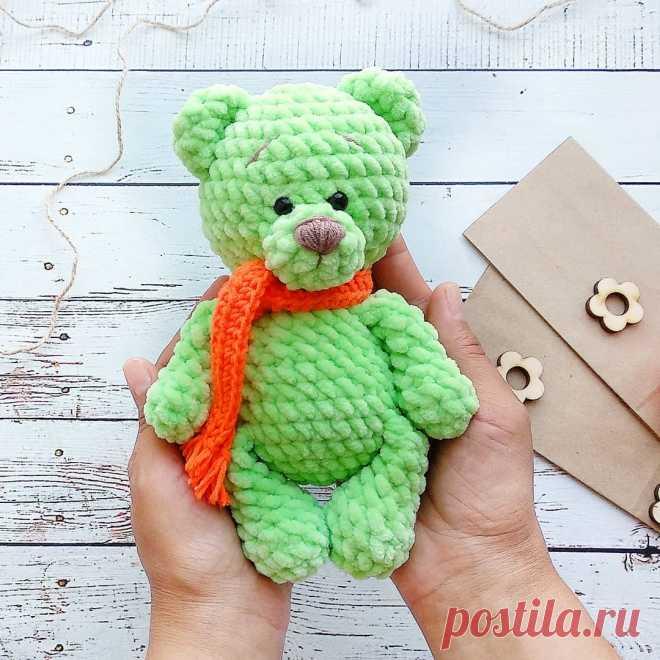 Плюшевый медвежонок крючком