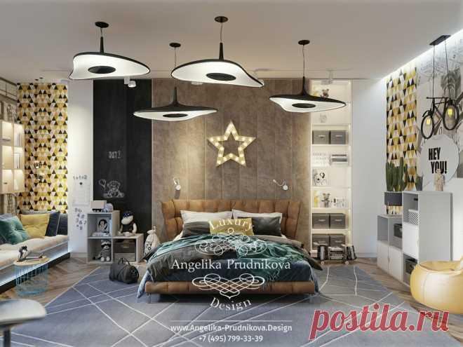 Дизайн-проект интерьера подростковой спальни в Куршевеле