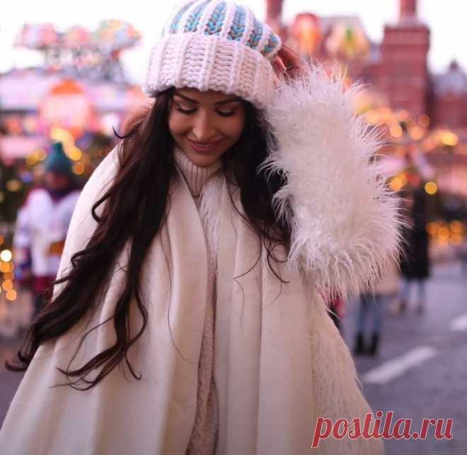 Объемная шапка английской резинкой за вечер - это модно, тепло, а еще очень быстро