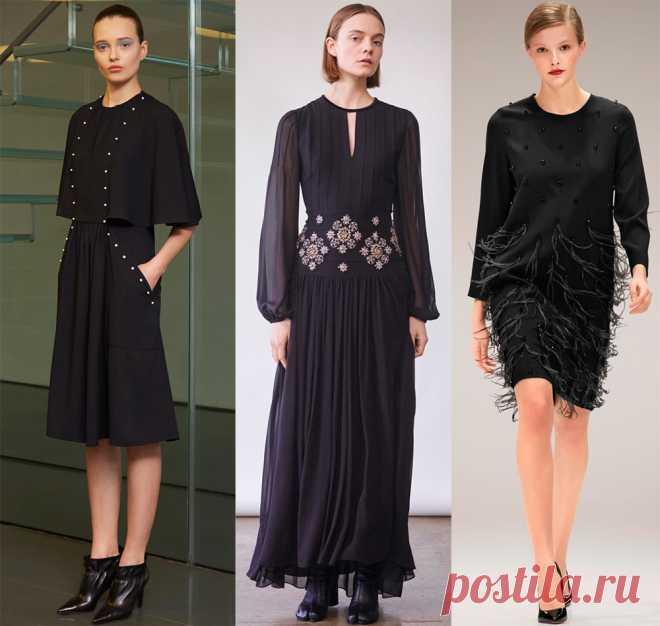 1c264f48bc0 Красивые черные платья 2017-2018 и модные тенденции