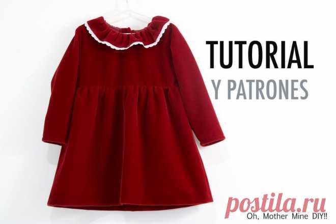 Скачать выкройку Выкройка Детское платье на девочку в PDF бесплатно