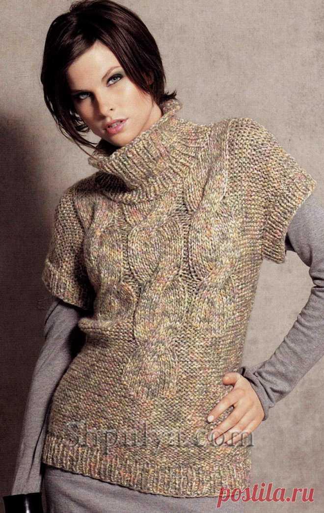 Пуловер с рукавами кимоно из толстой пряжи - SHPULYA.com