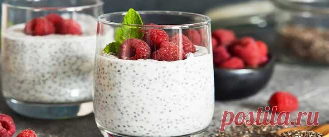 Чиа пудинг на овсяном молоке с йогуртом и малиной • Рецепт Простой и полезный домашний чиа пудинг на овсяном молоке с йогуртом и малиной. Этот нежный пудинг из семян чиа с фундуком и медом очень вкусный. К тому же
