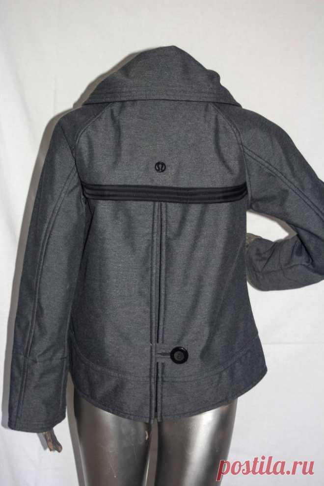 Womans $228 Lululemon Coco Softshell Coat Jacket Black Charcoal Size 6 | eBay
