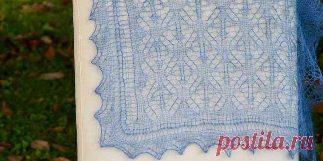Openwork shawl spider line