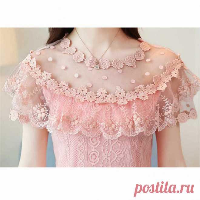 Блузы с кружевными рукавчиками: идеи для красоты образа