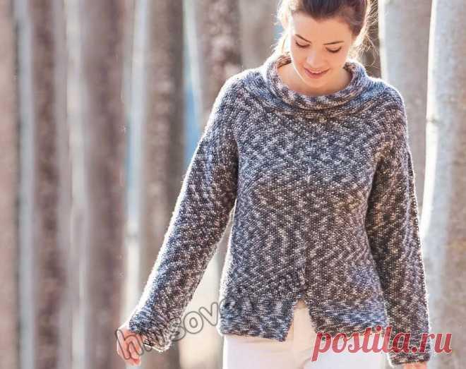 Женский модный свитер с воротником руликом - Хитсовет