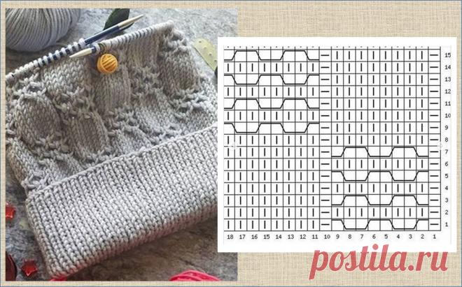 Готовимся к холодам - подборка схем для вязания спицами теплых шапочек | МНЕ ИНТЕРЕСНО | Яндекс Дзен