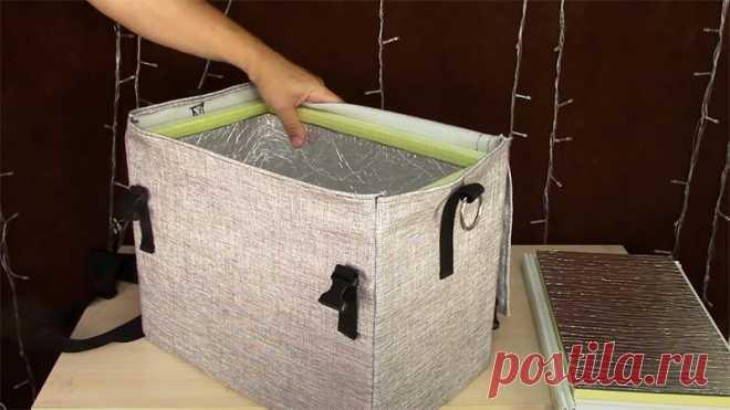 Сумка-холодильник: материалы, пошаговая инструкция изготовления своими руками за 20 минут
