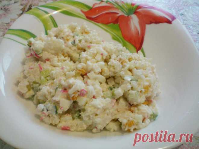 Самый простой крабовый салат – без выкрутасов | Кастрюлька | Яндекс Дзен