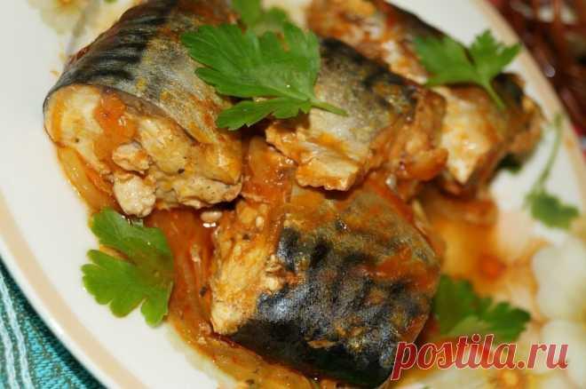 Рецепт скумбрии, тушеной с морковью и луком.  •источник Домашняя Кулинария •  Рецепт скумбрии, тушеной с морковью и луком.Скумбрия - очень пикантная рыбка, из которой можно приготовить очень много вкусных блюд. Хочу предложить Вам рецепт скумбри…