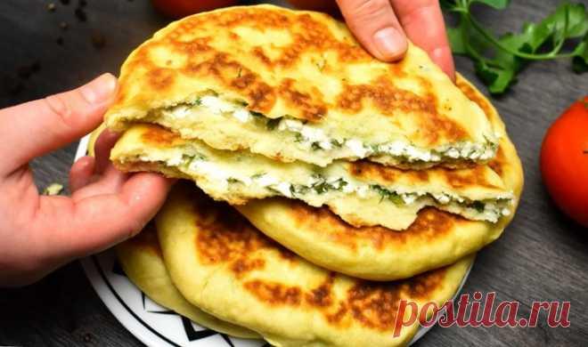 Хачапури : без дрожжей и на сковороде (быстро и вкусно)