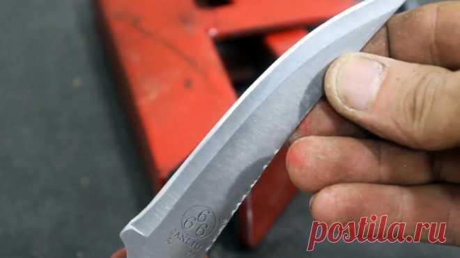 Теперь точить ножи удобно: как сделать простое приспособление для заточки
