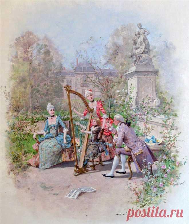 ИллюстративноСтаринно-Галантное... Luigi Loir (French, 1845-1916)