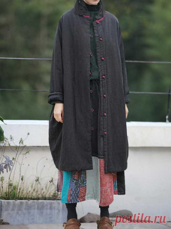 Winter coat for Women Linen long coat padded Linen robes | Etsy