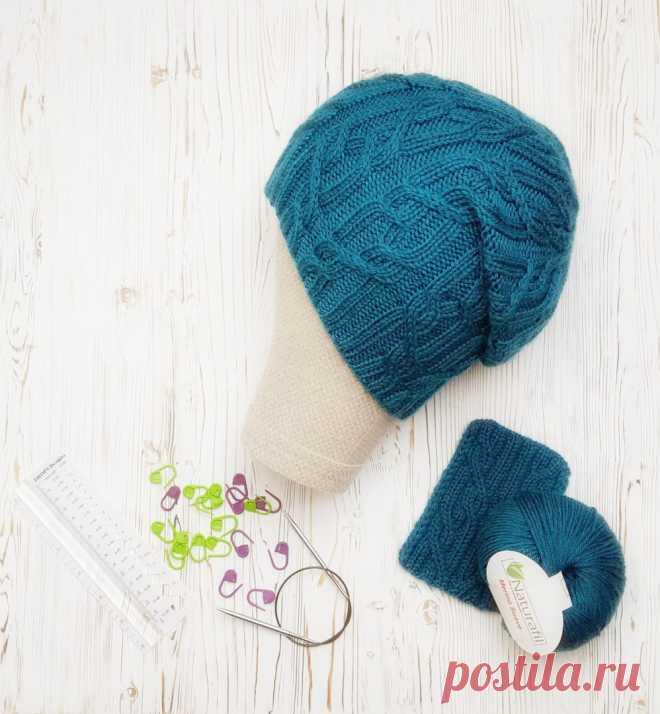 Бирюзовая шапка-бини - блог экспертов интернет-магазина пряжи 5motkov.ru