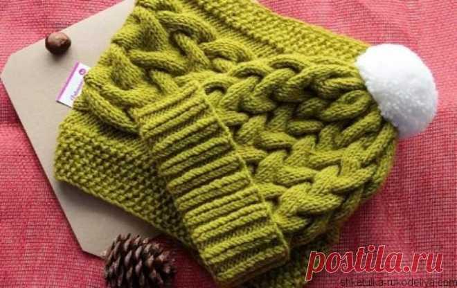 шапка из объемных кос шапка из объемных кос спицами для вязания